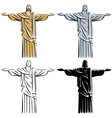 christ redeemer vector image vector image