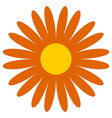 classic flower clip-art simple orange daisy vector image