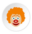 clown face icon circle vector image vector image