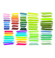 Color stripes drawn with markers vector image