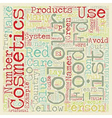 Colour Cosmetics text background wordcloud concept vector image vector image
