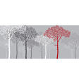 concept of red pine silhouette vector image vector image