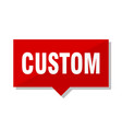 custom red tag vector image vector image