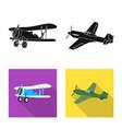 design of plane and transport symbol set