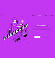 distance education landing page modern vector image