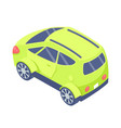 ecologically friendly transport isolated car vector image