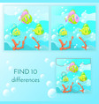 educational game for kids find 10 differences vector image