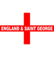 flag of england and saint george vector image vector image