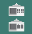 folding tent with windows in europe style vector image