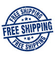 free shipping blue round grunge stamp vector image vector image