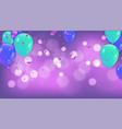 fuchsia metallic baloons on the upstairs with vector image
