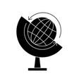 globe glyph black icon vector image vector image