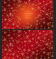 golden snowflakes vector image vector image