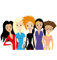 group of woman vector image