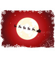 grunge santas sleigh vector image vector image