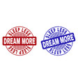 grunge sleep less dream more scratched round vector image vector image