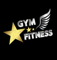 gym amp fitness vector image vector image