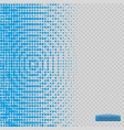 halftone pattern blue the circles to the vector image vector image