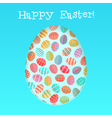 Happy easter card template with vector image