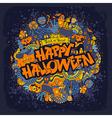 happy halloween retro styled doodle creative vector image vector image