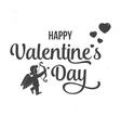 Happy Valentine s Day text and lettering vector image vector image