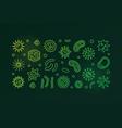 human microbiota green concept outline vector image