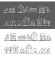 icon village vector image