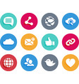 Internet and social icons in material design style vector image