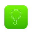 magnifier icon green vector image vector image