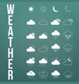 modern weather icons set flat symbols on modern vector image