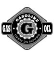 monochrome pattern design for a gas station vector image