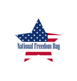 national freedom day 1st of february star vector image