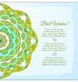 Nice floral greeting card with leaves for wedding vector image