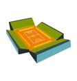 Open soccer field icon vector image vector image