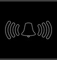ringing bell the white path icon vector image vector image