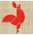 rooster print vector image vector image