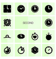second icons vector image vector image