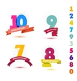 set of anniversary numbers design 10 9 7 vector image vector image