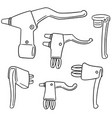 set of bicycle brake lever vector image vector image