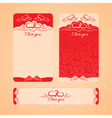 set of cards with Valentines Day and wedding day vector image
