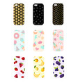 set smart phone cases with fashionable geometric vector image