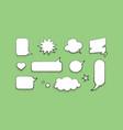 set speech bubble design template vector image vector image