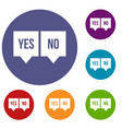 signs of yes and no icons set vector image vector image