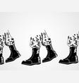 sketch army boots vector image vector image