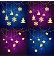 snowflakes chrisrtmas background vector image vector image