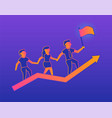success gradient on violet background vector image vector image