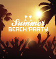 Summer beach party background vector image vector image