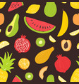 summer seamless pattern with tropical organic ripe vector image vector image