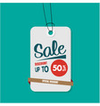 tag sale discount up to 50 off special discount v vector image vector image