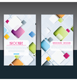 Template of brochure design with squares vector image vector image